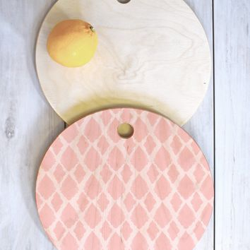 Allyson Johnson Blushed iKat Cutting Board Round