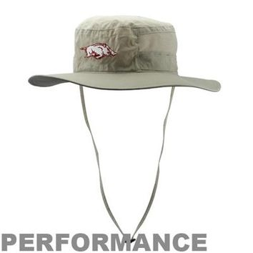 Columbia Arkansas Razorbacks Collegiate Bora Bora Booney II Performance Hat - Khaki