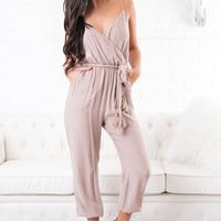 Better Without You Tie Jumpsuit (Nude Pink)
