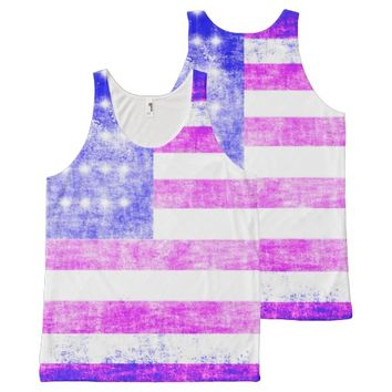 Flag All-Over Print Tank Top
