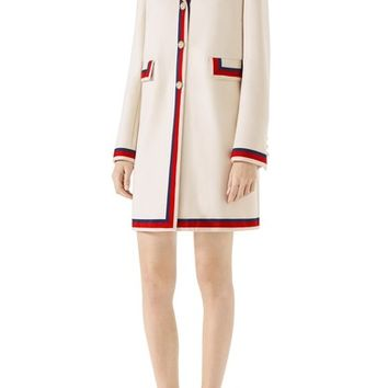 Gucci Ribbon Trim Wool Coat | Nordstrom