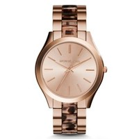 Runway Rose Gold-Tone Acetate Watch