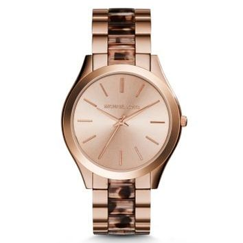 Runway Rose Gold-Tone Acetate Watch | Michael Kors