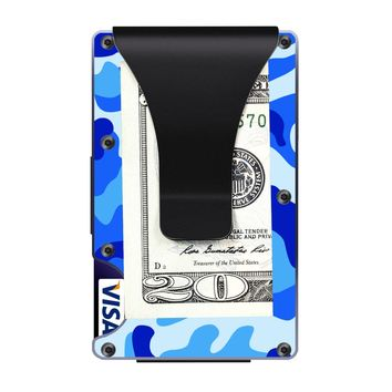 The Ridge Wallet with Money Clip - Military Blue