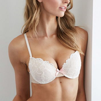 Embroidered Floral Lace Push-Up Bra