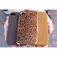 Tech Candy Metal Effects Bordeaux Iphone 4/4S 3 Piece Case Bronze