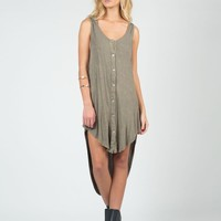 Hooded Acid Washed Dress