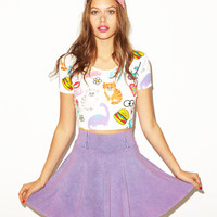 Lazy Oaf | Lazy Oaf X Nasty Gal Stickers Crop Tee