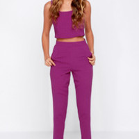 Together Forever Purple Two-Piece Set