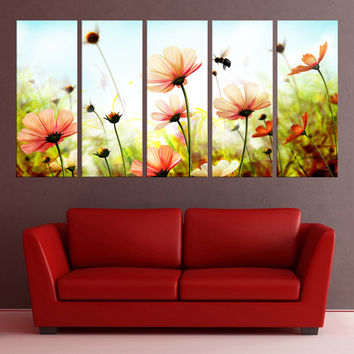 flowers wall art, floral canvas print, fine art print large canvas art, wall art canvas, home decor nature canvas art print, 7s96