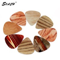 SOACH 10pcs Lot 1.0mm thickness guitar picks guitar parts Selling wood grain pedal guitar strap Guitar Accessories Strap
