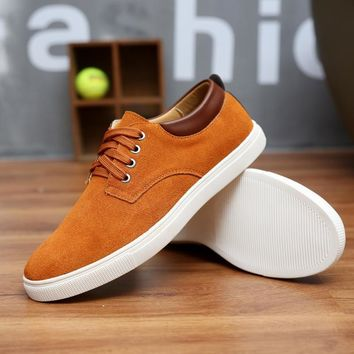 2017 New Fashion Autumn/Winter Suede Men Shoes Men Canvas Shoes Leather Casual Breatha