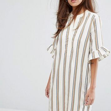 Whistles Margarita Linen Stripe Dress at asos.com