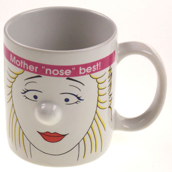 Mother Nose Best 3D Mugz by Ganz White Coffee Mug Tea Ceramic