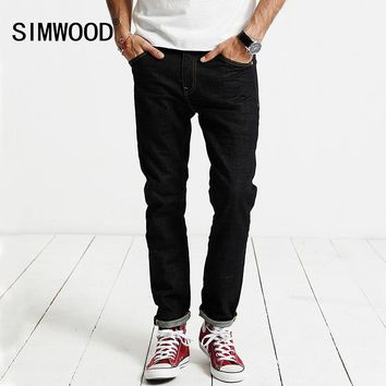 SIMWOOD Jeans Men 2017 Autumn  New Jeans Male Cotton Slim Fit Zipper Casual Denim Trousers  High Quality  Brand Clothing SJ6098