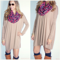 Ellington Mocha Piko Dress