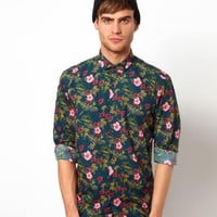 Selected Shirt With All Over Floral Print