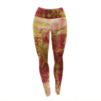 "Ebi Emporium ""Epoch 4"" Red Green Yoga Leggings"