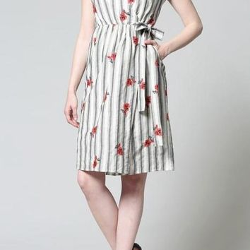 Serah Cotton Wrap Dress