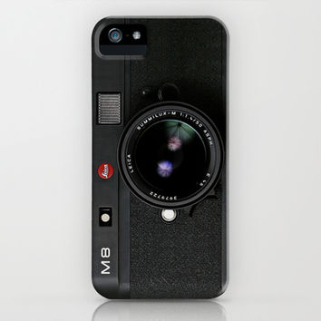 classic retro Black doft Leica M8 vintage camera apple iPhone 4 4s, 5 5s 5c, iPod & samsung galaxy s4 case