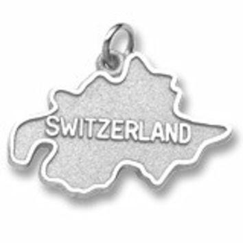 Switzerland Charm In 14K White Gold
