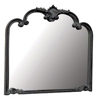 Moulin Noir Overmantel Mirror | Painted French Mirror | French Style Bedroom Furniture