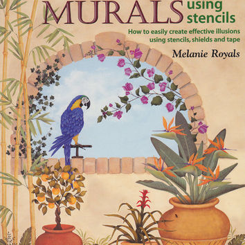 Trompe L'Oeil Murals using stencils  Book by Melanie by 7thStash