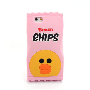 Pink Duck Chips 3D Iphone 5 6 6Plus Case