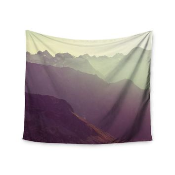 """Sunny Cloudy Mountains"" Sun Set Wall Tapestry"