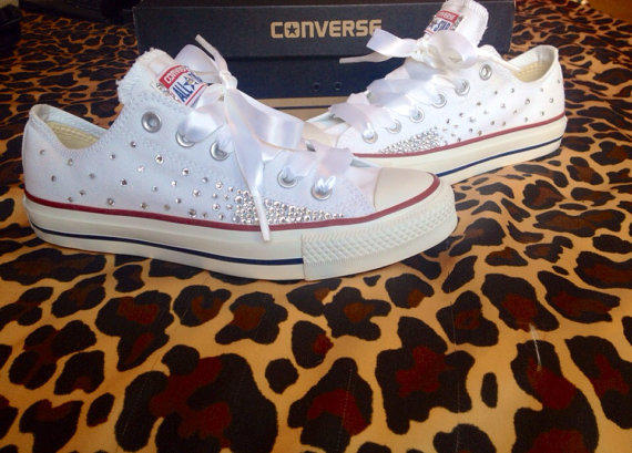 3cbe126c8377 Ombré Effect Rhinestone Converse with from ConverseCustomized on