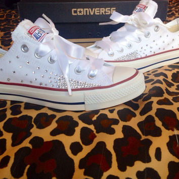 Ombré Effect Rhinestone Converse with from ConverseCustomized on 6d792f17a7