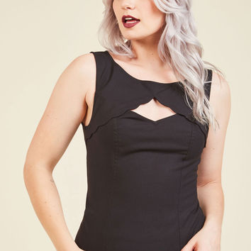 Stand Your Fairground Tank Top in Licorice | Mod Retro Vintage Short Sleeve Shirts | ModCloth.com