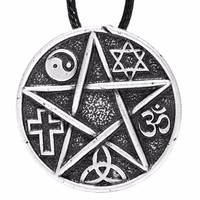 All Gods Are The Same God Pentacle Pendant Necklace