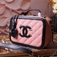 CHANEL WOMEN NEW STYLE LEATHER MAKEUP BAG