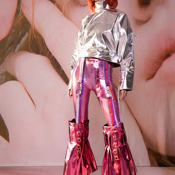 Mooly SS17 Pink Glamour Flared Pants