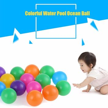 High Quality 100Pcs Colorful Ball Ocean Balls Soft Plastic Ocean Ball Baby Kid Swim Toy for Children Gift Ocean Wave Ball Toys