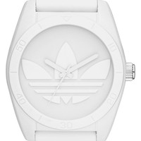 adidas Originals 'Santiago' Silicone Strap Watch, 42mm