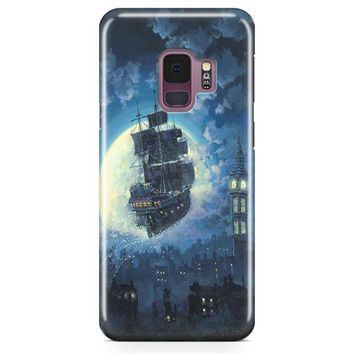 Peter Pan Sailing Into The Moon Samsung Galaxy S9 Case | Casefantasy