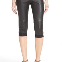 ATM Anthony Thomas Melillo Crop Stretch Leather Track Pants | Nordstrom