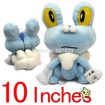 25cm Japanese Anime Cartoon Pokemon Froakie Plush Toy Doll For Xmas Gifts,1pcs/pack