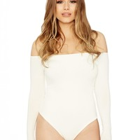 Naked Wardrobe The NW Off The Shoulder Bodysuit - Bodysuits - Womens