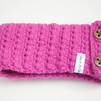 Hot Pink Wool Headband