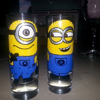 SHOT glass Despicable Me 2 minions movie