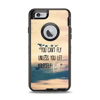 The Pastel Sunset You Cant Fly Unless You Let Yourself Fall Apple iPhone 6 Otterbox Defender Case Skin Set
