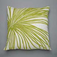 Palm Pillow on natural linen -Dermond Peterson