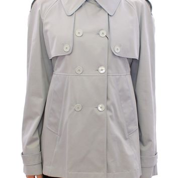 Blue Formal Dress Trench Jacket Coat