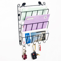 Evelots® Decorative Leaf 3 Tier Letter Rack Organizers W/ Holders