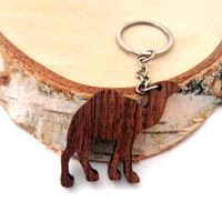 Wooden Camel Keychain, Walnut Wood, Animal Keychain, Camel Cigarretes Keychain, Environmental Friendly Green materials