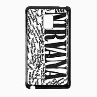 Nirvana all member and song titles collage 0da3ea0a-5da2-46a7-905b-670c20a363c5 for Samsung Galaxy Note Edge CASE *RA*
