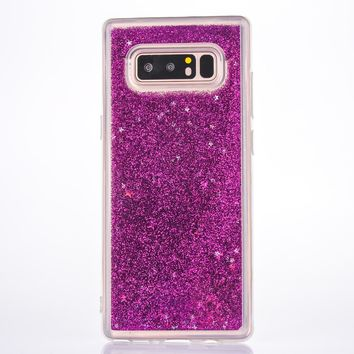 Dynamic Liquid Glitter Sand Soft TPU Case For Samsung Galaxy note8  Cover Quicksand Mobile Phone Shell